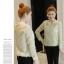 เสื้อแฟชั่นเกาหลี แขนยาว แต่งลายผ้าแบบริ้วๆ ดูหรูหรา คุ้มราคา thumbnail 21