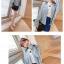 เสื้อแฟชั่นเกาหลีแขนยาว ผ้ายีนส์ซีด ตกแต่งหมุดเพิ่มลวดลายให้ตัวเสื้อ thumbnail 10