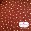 ผ้าคอตตอนไทย 100% 1/4 ม.(50x55ซม.)โทนสีแดงกล่ำ ลายดาวเล็ก thumbnail 1