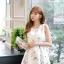 เดรสแฟชั่นเกาหลีทรงยาว พร้อมเข็มขัดในชุด กับลายดอกไม้สวยๆ thumbnail 53