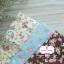 ผ้าคอตตอนไทย 100% 1/4 ม.(50x55ซม.) พื้นน้ำตาล ลายดอกไม้ thumbnail 3