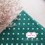 ผ้าคอตตอนลินิน 1/4ม.(50x55ซม.) พื้นสีเขียวเข้ม ลายจุดสีขาว thumbnail 3