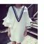 เดรสสั้นเกาหลี คอกลม ลาย V ที่ตัวเสื้อ แขนเสื้อตัดเย็บพองๆ เพิ่มความเลิศหรูให้กับสาวๆ ดีทีเดียว thumbnail 9