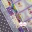 Set 5 ชิ้น: ผ้าคอตตอน100% 4 ลาย และผ้าแคนวาส ลายจุดโทนสีม่วง thumbnail 2