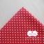 ผ้าคอตตอนลินิน 100% 1/4 เมตร พื้นสีแดง ลายจุดเล็กสีขาว thumbnail 3