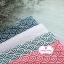 ผ้าคอตตอนไทย 100% 1/4 ม.(50x55ซม.) ลายเกล็ดปลาญี่ปุ่น สีชมพู thumbnail 3