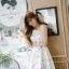 เดรสแฟชั่นเกาหลีทรงยาว พร้อมเข็มขัดในชุด กับลายดอกไม้สวยๆ thumbnail 38