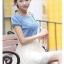เดรสแฟชั่นเกาหลี สวยหวาน ด้วยเสื้อสียีนส์น่ารักๆ รับกับชายกระโปรงลายลูกไม้ เข้ากันได้ลงตัวสุดๆ thumbnail 10