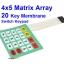 4x5 Matrix Array Keyboard 20 Key Membrane Switch Keypad 4*5 Keys thumbnail 1