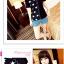 เสื้อแฟชั่นเกาหลี มาในลวดลายสุด chic คอเสื้อแบบคอวี สีทูโทน thumbnail 4