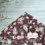 ผ้าคอตตอนไทย 100% 1/4 ม.(50x55ซม.) พื้นน้ำตาล ลายดอกไม้ thumbnail 1