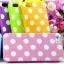 เคสไอโฟน 5/5s/SE TPU Case สีเหลือง วงกลมขาว คลุมรอบเครื่อง thumbnail 1