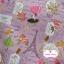 ผ้าคอตตอนลินิน 1/4ม.(50x55ซม.) พื้นสีชมพู ลายวินเทจ thumbnail 1