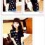 เสื้อแฟชั่นเกาหลี มาในลวดลายสุด chic คอเสื้อแบบคอวี สีทูโทน thumbnail 3