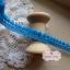 ลูกไม้แต่งปอมปอมเล็กสีฟ้าเข้ม กว้าง 1 ซ.ม. แบ่งขายเป็นหลา thumbnail 2