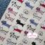 ผ้าคอตตอนไทย 100% 1/4 ม.(50x55ซม.) พื้นสีขาวครีม ลายแมว thumbnail 1