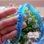 ลูกไม้แต่งปอมปอมเล็กสีฟ้าเข้ม กว้าง 1 ซ.ม. แบ่งขายเป็นหลา thumbnail 1