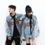 *Pre Order*Denim Jacket hip-hop แฟชั่นญี่ปุ่นชาย/หญิง size M-L-XL