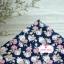 ผ้าคอตตอนไทย 100% 1/4 ม.(50x55ซม.) พื้นสีน้ำเงนกรมท่า ลายดอกกุหลาบวินเทจ thumbnail 2