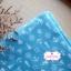 ผ้าคอตตอนไทย 100% 1/4 ม.(50x55ซม.) พื้นสีฟ้า ลายสมอเรือ thumbnail 1