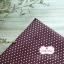ผ้าคอตตอนไทย 100% 1/4 ม.(50x55ซม.) พื้นสีน้ำตาล จุดเล็กสีขาว thumbnail 1