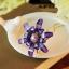 ปิ่นประดับผมแฟชั่น ดอกไม้คริสตัลม่วงทอง thumbnail 1