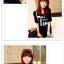 เสื้อยืดแฟชั่นเกาหลี พิมพ์ลายสกรีนด้านหน้าเสื้อ สวมใส่สบาย มีให้เลือกถึง 2 สี thumbnail 4