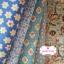 เซ็ท 5 ชิ้น : ผ้าคอตตอน100%และผ้าแคนวาสลายดอกไม้ โทนสีฟ้า ชิ้นละ1/8 ม.(50x27.5ซม.) thumbnail 1