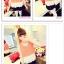 เสื้อแฟชั่นเกาหลี แขนกุด เบาสบาย พริ้วไหวด้วยการเล่นโทนสี 3 ชั้น thumbnail 4