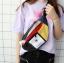 *Pre Order* กระเป๋าผ้าใบคาดอกแฟชั่นญี่ปุ่น 16x36x6 cm.