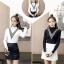 เสื้อแฟชั่นเกาหลีสวยๆ คอเต่าผ้านิ่ม คาดลายเหมือนคอวี ทั้ง 2 ด้าน ดูเก๋จริงๆ thumbnail 5