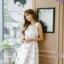 เดรสแฟชั่นเกาหลีทรงยาว พร้อมเข็มขัดในชุด กับลายดอกไม้สวยๆ thumbnail 44