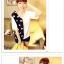 เสื้อแฟชั่นเกาหลี มาในลวดลายสุด chic คอเสื้อแบบคอวี สีทูโทน thumbnail 7