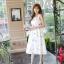 เดรสแฟชั่นเกาหลีทรงยาว พร้อมเข็มขัดในชุด กับลายดอกไม้สวยๆ thumbnail 32