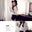 เสื้อแฟชั่นสตรีใหม่ สีขาวพื้น ลวดลายตาราง ทรงสวย ใส่สบาย คลาสสิคสุดๆ thumbnail 4