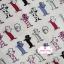 ผ้าคอตตอนไทย 100% 1/4 ม.(50x55ซม.) พื้นสีขาวครีม ลายแมว thumbnail 2