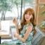 เดรสแฟชั่นเกาหลีทรงยาว พร้อมเข็มขัดในชุด กับลายดอกไม้สวยๆ thumbnail 26
