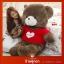 ตุ๊กตาหมีสวมเสื้อหัวใจ Loves thumbnail 1