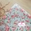 ผ้าคอตตอนไทย 100% 1/4ม.(50x55ซม.) พื้นสีฟ้าอ่อน ลายกุหลาบสีแดง thumbnail 1