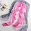 ผ้าพันคอผ้าไหม สีเทาชมพู ( รหัส P61 ) thumbnail 1