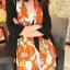 ผ้าพันคอชีฟอง สีส้ม ( รหัส P6 ) thumbnail 1