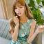 เดรสแฟชั่นเกาหลีทรงยาว พร้อมเข็มขัดในชุด กับลายดอกไม้สวยๆ thumbnail 22