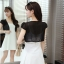 เสื้อคลุมแฟชั่น บางเบาแบบผ้าชีฟอง สีดำและสีขาว ใส่คู่กับตัวไหนก็สวย thumbnail 21