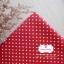 ผ้าคอตตอนลินิน 100% 1/4 เมตร พื้นสีแดง ลายจุดเล็กสีขาว thumbnail 1