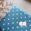 ผ้าคอตตอนลินิน 1/4ม.(50x55ซม.) พื้นสีฟ้าเข้ม ลายจุดสีขาว thumbnail 2