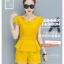 ชุดเซ็ท แฟชั่น เสื้อเข้าชุดกางเกงขาสั้น สีพื้นจัดจ้าน กับดีไซน์ร่วมสมัย thumbnail 2