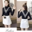 เสื้อแฟชั่นเกาหลีสวยๆ คอเต่าผ้านิ่ม คาดลายเหมือนคอวี ทั้ง 2 ด้าน ดูเก๋จริงๆ thumbnail 12