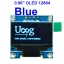 BLUE 0.96 inch OLED LCD display module 12864 (I2C interface module) thumbnail 1