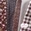 Set 5 ชิ้น : ผ้าคอตตอน 100% 4 ลาย และผ้าแคนวาสลายตารางโทนสีน้ำตาล ชิ้นละ1/8 ม.(50x27.5ซม.) thumbnail 1