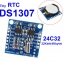 RTC I2C DS1307 clock + 24C32 memory module for arduino with battery thumbnail 1